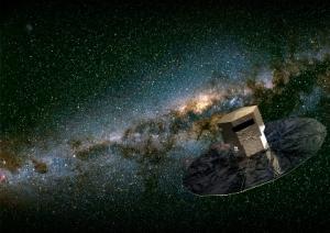 Recreación de Gaia en el espacio. Imagen: Medialab.