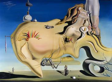 El gran masturbador (1929). Óleo sobre lienzo. 110x150 cm. / Museo Nacional Centro de Arte Reina Sofía. Fundación Gala Salvador Dalí, VEGAP, Madrid 2012
