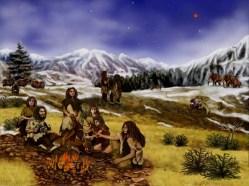 Los neandertales usaban el fuego de forma permanente. Ilustración: JPL/NASA.