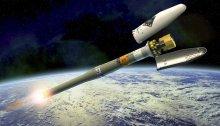 Ilustración del Soyuz llevando a Gaia hasta su órbita, cuando se desprende de su cubierta aerodinámica / ESA – D. Ducros.
