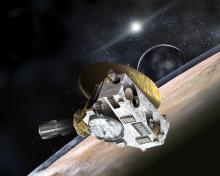 La nave New Horizons investigará Plutón y su luna Carante. / JHUAPL-SwRI