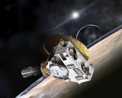 La nave New Horizons investigará Plutón y su luna Caronte. / JHUAPL-SwRI