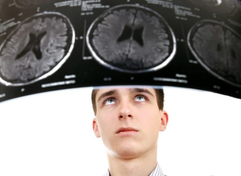 Young Man with Tomography